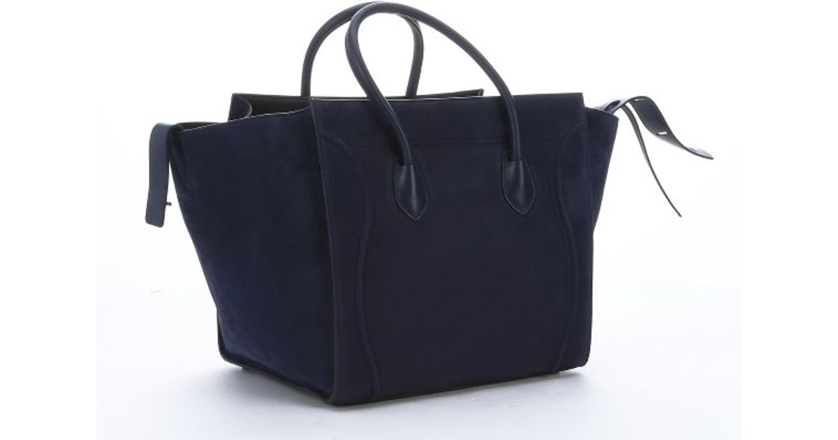 celine leather bag price - celine blue leather handbag blade
