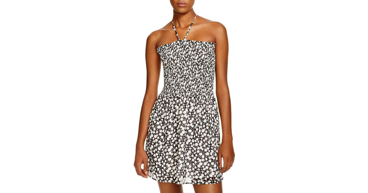 d5fcef025519 Tory Burch Orchard Smocked Dress Swim Cover Up in Black - Lyst