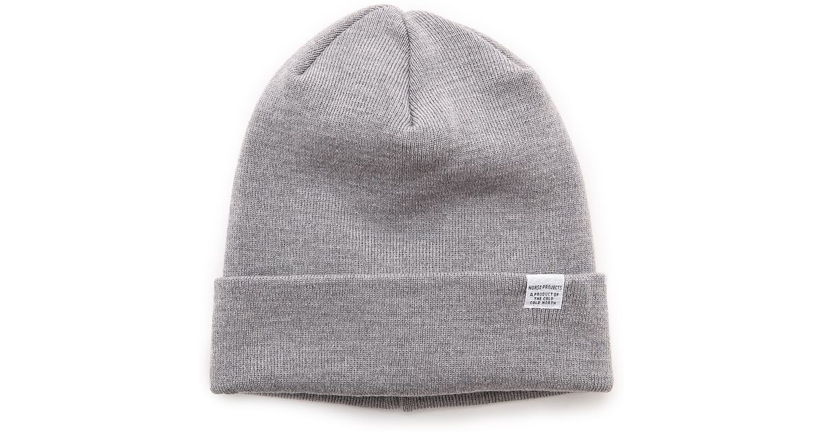 a222a0bfdfb Lyst - Norse Projects Norse Top Beanie in Gray for Men