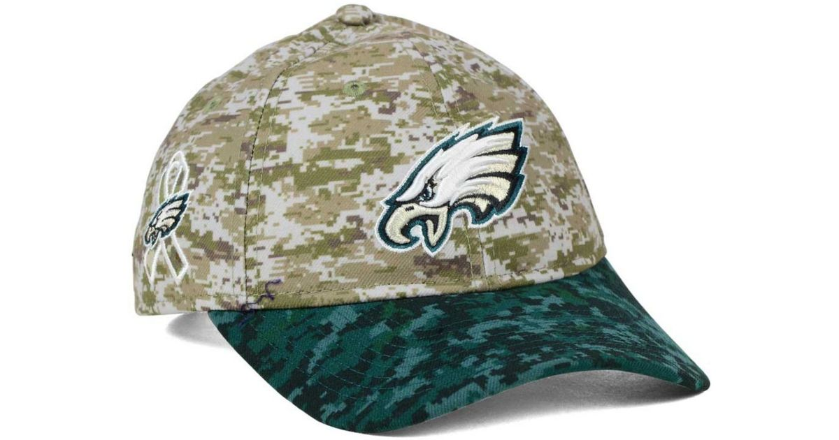 ... wholesale lyst ktz womens philadelphia eagles salute to service 9twenty  cap in green for men 73ab9 b0c11e77f