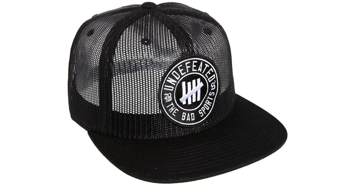 Lyst - Undefeated Bad Sports Trucker Cap in Black for Men 0b40f178b72a