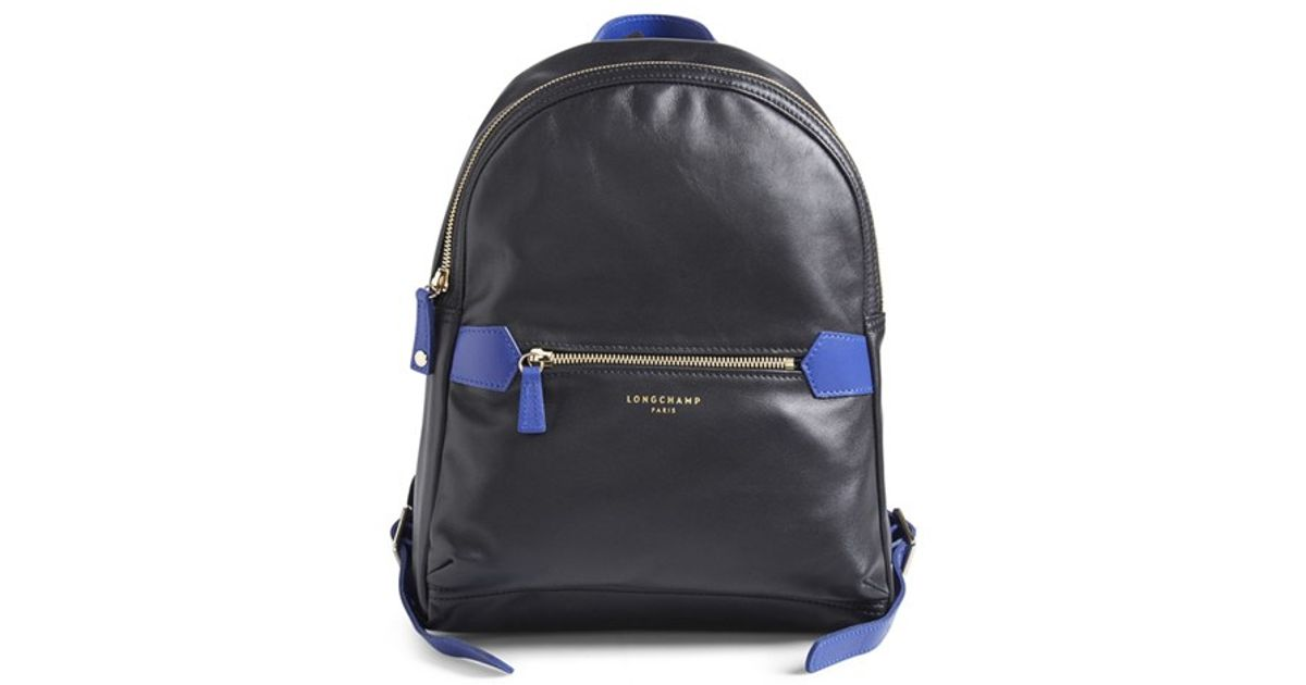 85482ad776be Lyst - Longchamp  2.0  Leather Backpack in Black