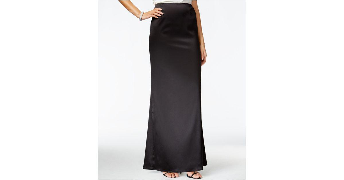 tahari evening maxi skirt in black lyst