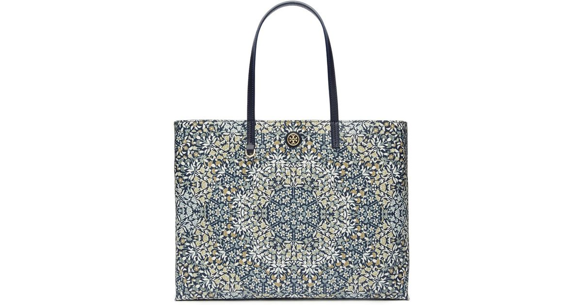 2bade145c12 Lyst - Tory Burch Large Herrington Printed Vinyl Tote Bag in Blue