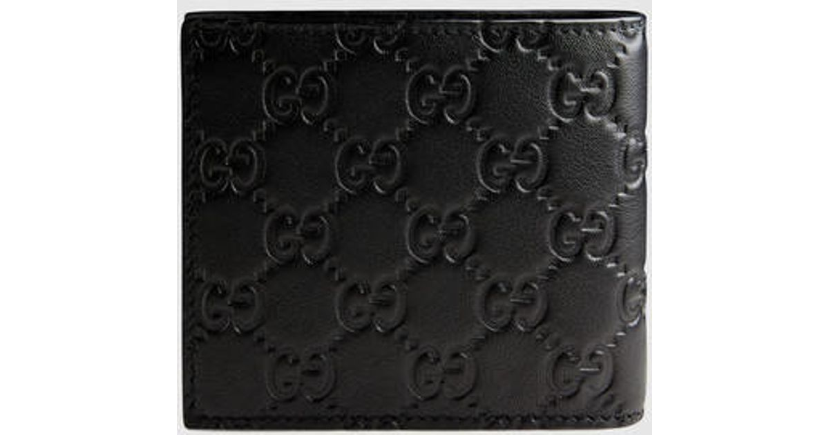 10d6223de6d0b Lyst - Gucci Guccissima Leather Id Wallet in Black for Men