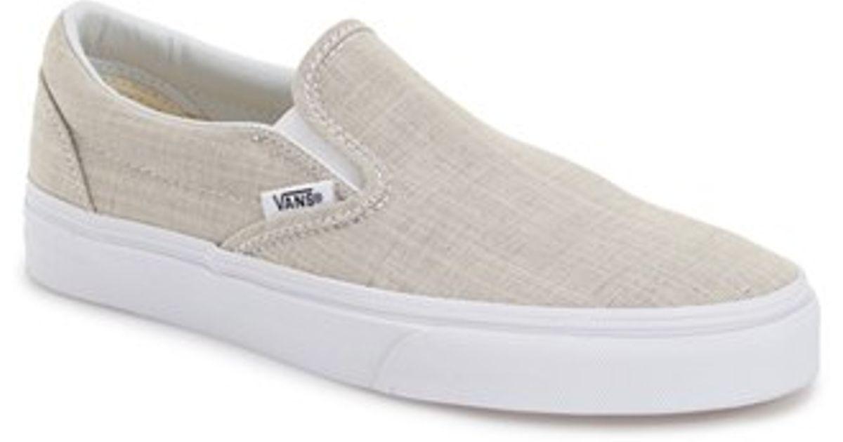 ef410e956e Lyst - Vans  classic  Slip-on Sneaker in Gray