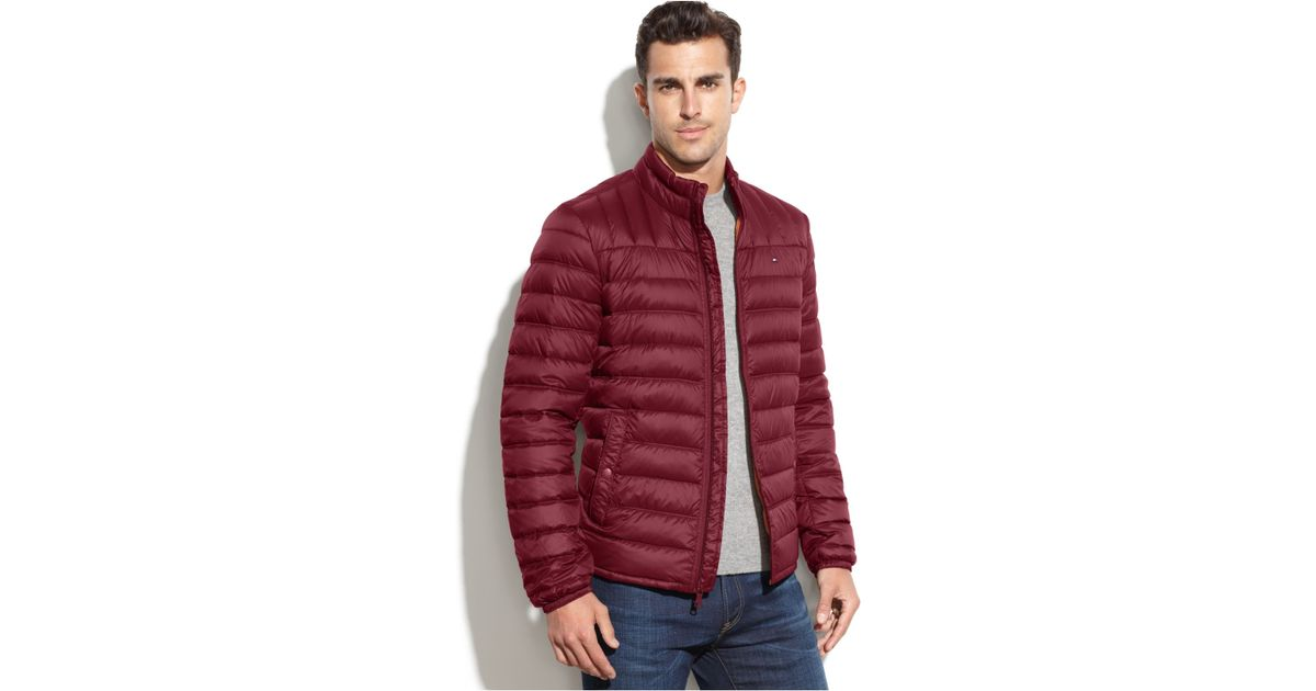 Tall Lyst Packable Coat Tommy And Down Quilted Big Hilfiger qFvFf6