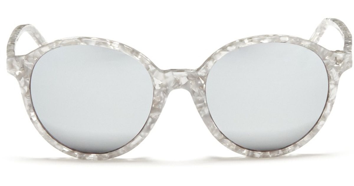 52cd557f22b2 Lyst - Ross   Brown  capri  Shell Effect Acetate Mirror Sunglasses in  Metallic for Men