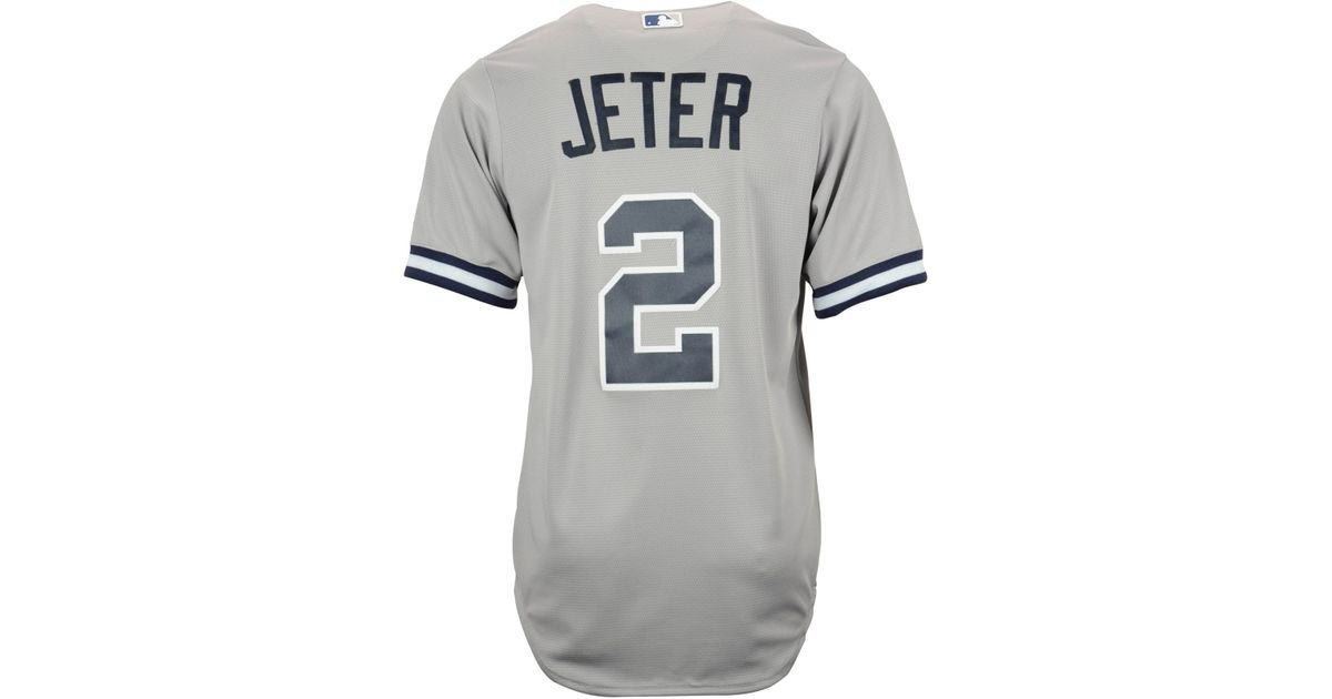 b67ca3174 Lyst - Majestic Derek Jeter New York Yankees Replica Jersey in Gray for Men