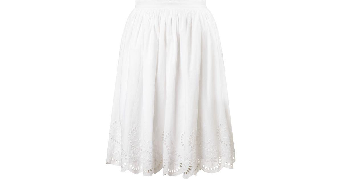 0794b0e5796e Somerset by Alice Temperley Broderie Skirt in White - Lyst