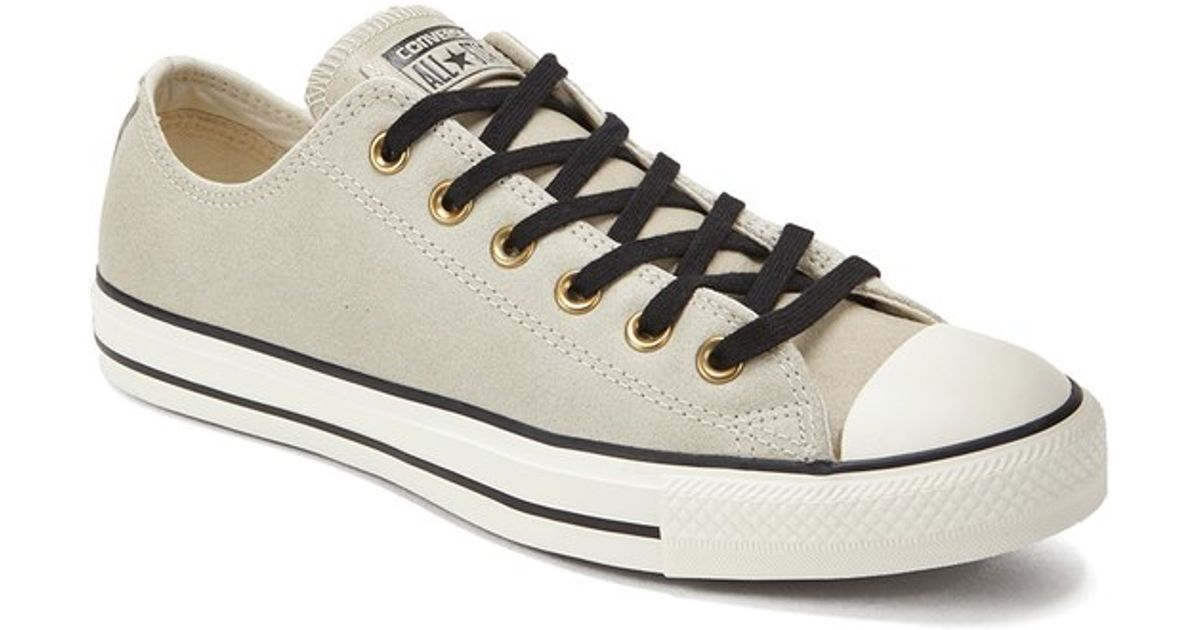 4e78c26bd7edfe Converse Men s Chuck Taylor All Star Vintage Leather Ox Trainers in Natural  for Men - Lyst