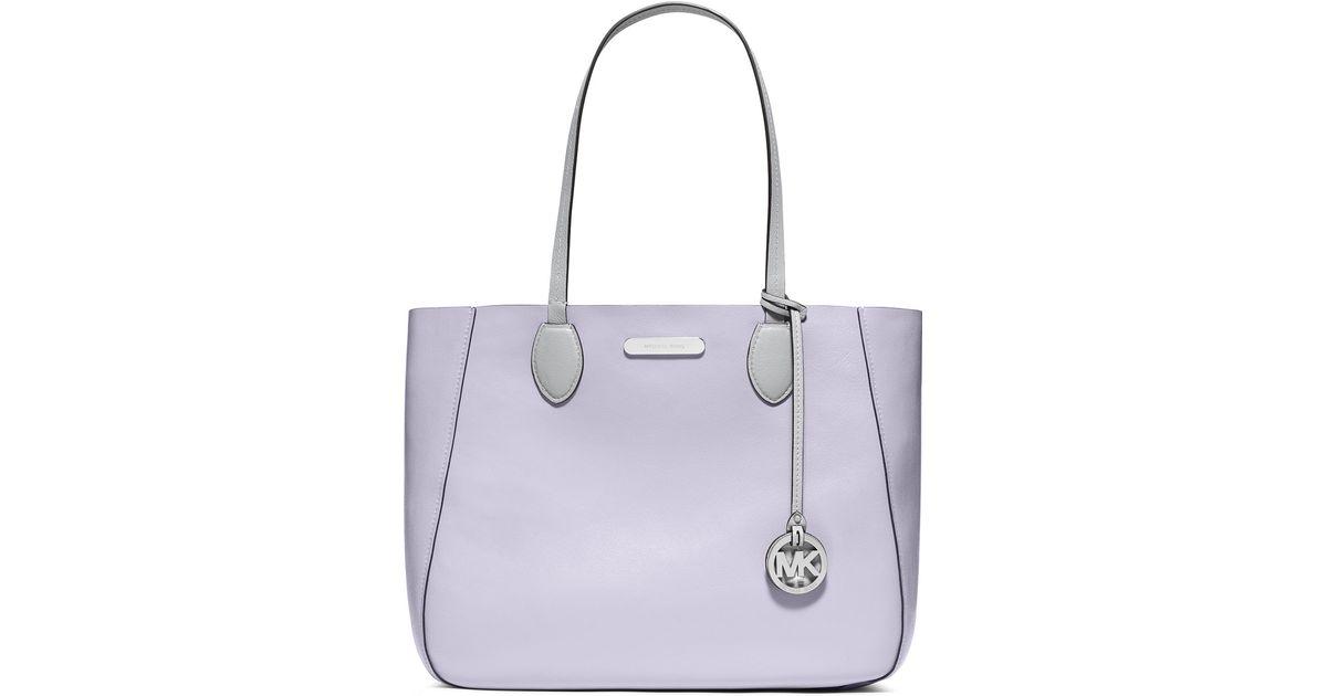 4ce100f8aaf6 promo code michael michael kors mae large bicolor tote bag in purple lyst  3c831 c8b43