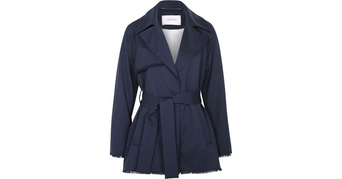 dorothee schumacher cool ambition trench jacket 1 1 in blue lyst. Black Bedroom Furniture Sets. Home Design Ideas