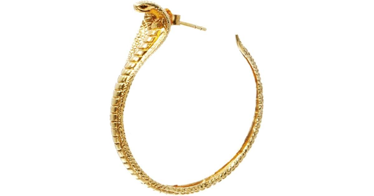 b7961a087 Zoe & Morgan Zoe Morgan Cobra Hoop Earrings in Metallic - Lyst