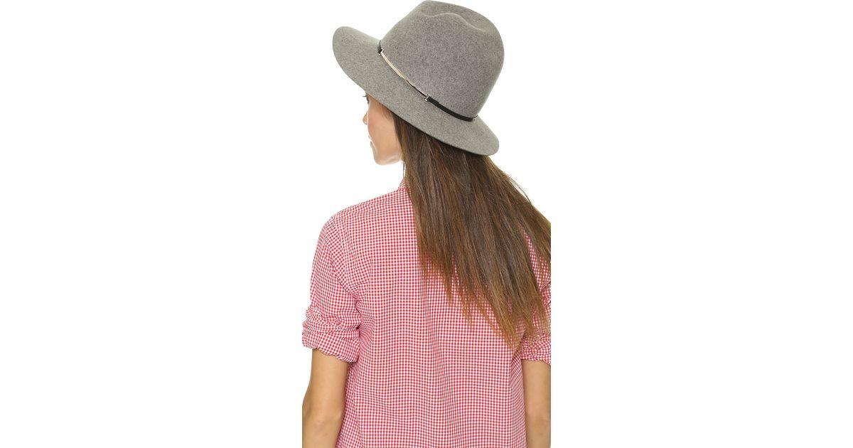 Lyst - Janessa Leone Victoria Hat in Black 43d92854e14a