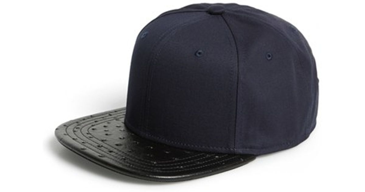 0538855a7a84d Lyst - Gents  mack  Embossed Bill Cap in Blue for Men