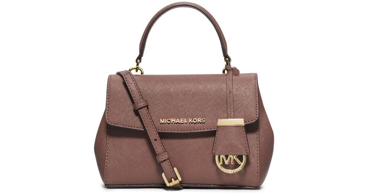 54324960a5c8d3 ... new zealand lyst michael michael kors ava extra small saffiano leather  satchel in pink be6c6 cf652