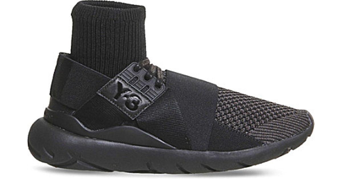cd28f4dbd Y-3 Qasa Elle Lace Knit Neoprene Trainers in Black for Men - Lyst