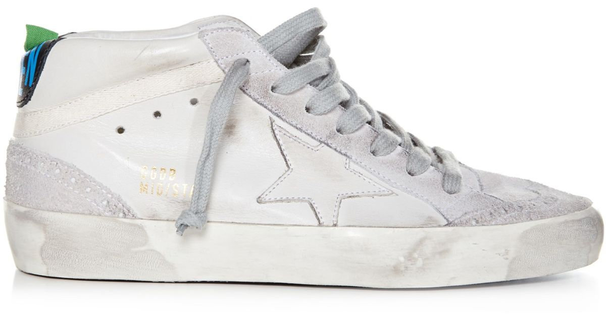 6dbfb3c8cd1b Lyst - Golden Goose Deluxe Brand Mid Star Leather and Suede Sneakers in  White