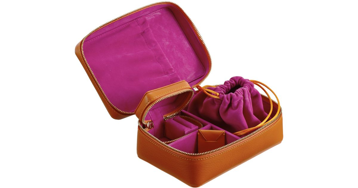 4395dfd25 Lyst - Stow Luxury Travel Jewellery Case Set Amber & Pink in Brown
