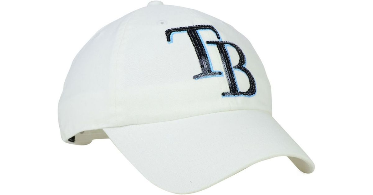 Lyst - 47 Brand Women s Tampa Bay Rays Adjustable Clean Up Cap in White 4ebe8ff648