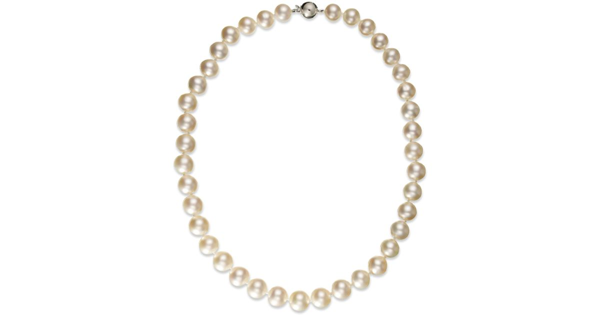 pearl bracelet macys macy s pearl necklace 14k white gold white cultured south 6729