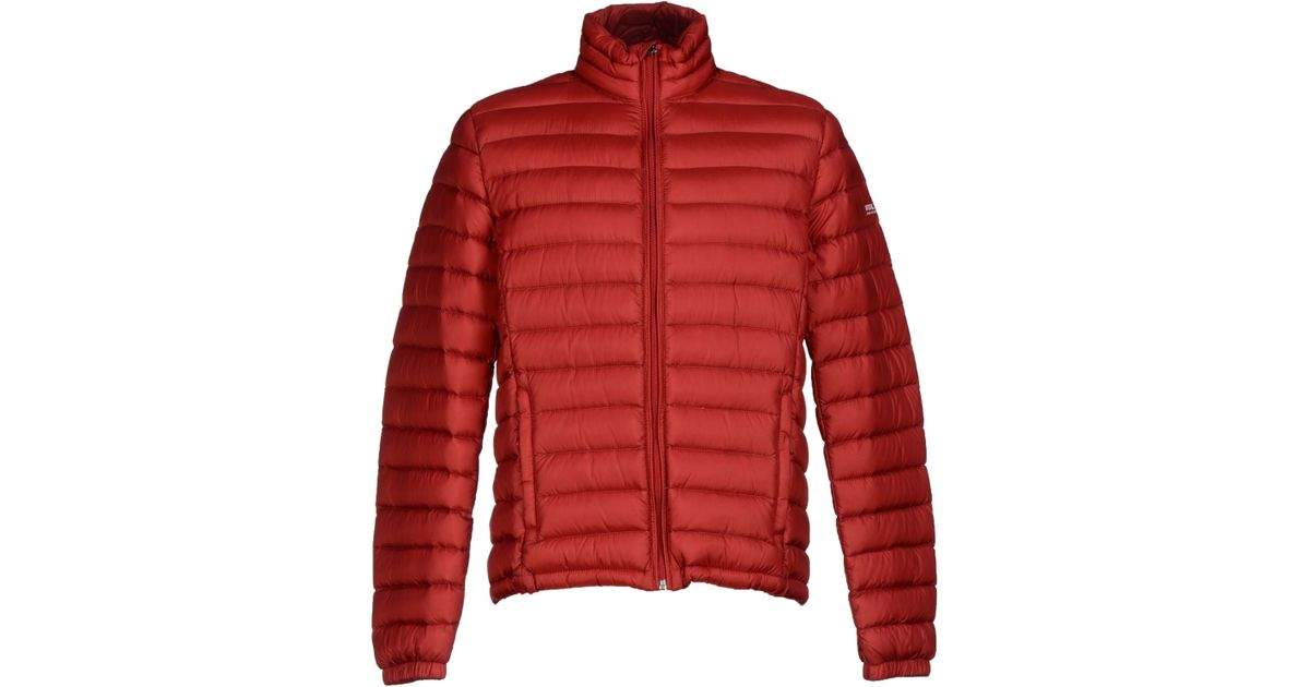Woolrich Down Jacket In Red For Men Lyst