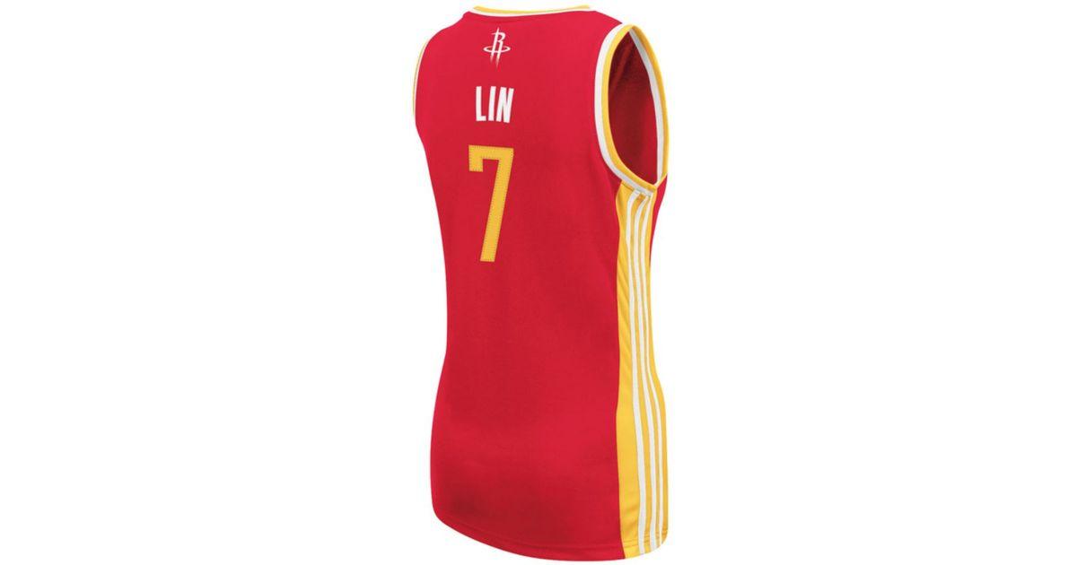 huge discount dfc60 46777 Adidas - Red Women's Houston Rockets Jeremy Lin Replica Jersey - Lyst