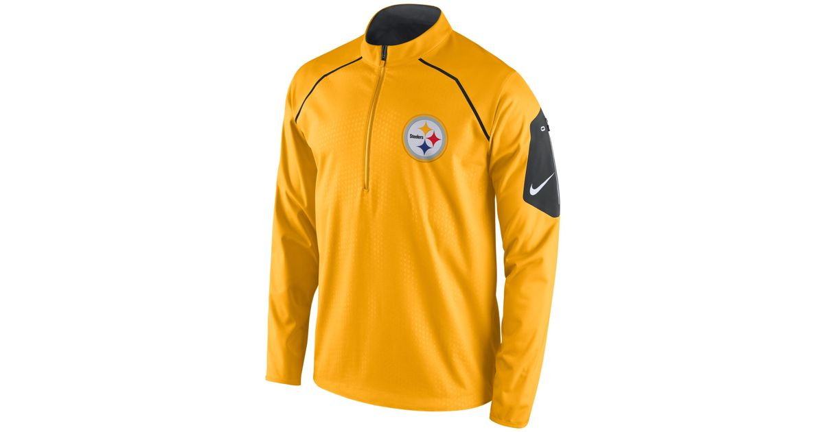 6305a0a7711da Lyst - Nike Men s Pittsburgh Steelers Alpha Fly Rush Quarter-zip Jacket in  Yellow for Men