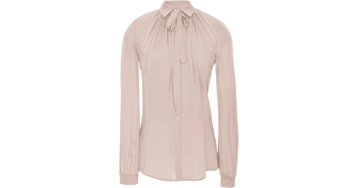 fa5d706e545e8 Lyst - Elie Saab Silk Georgette Lace Shirt in Natural