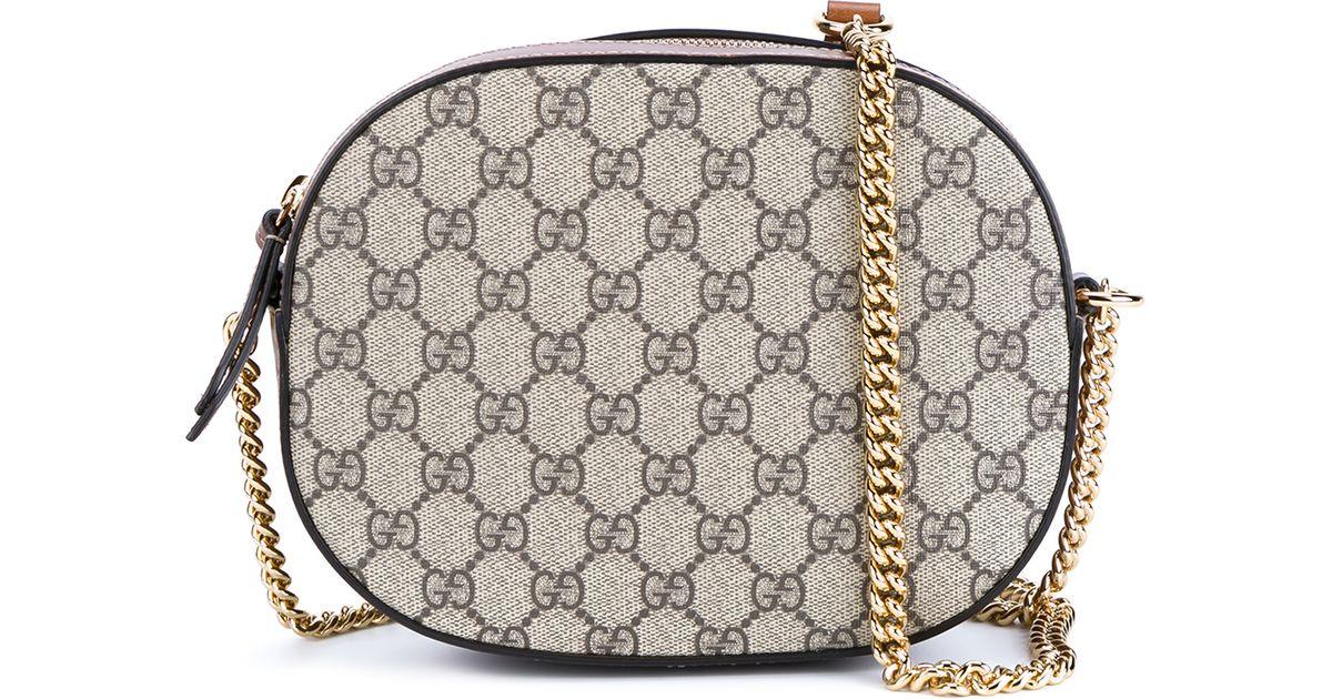 7afe904e139 Gucci GG Supreme Mini Chain Bag in Natural - Lyst