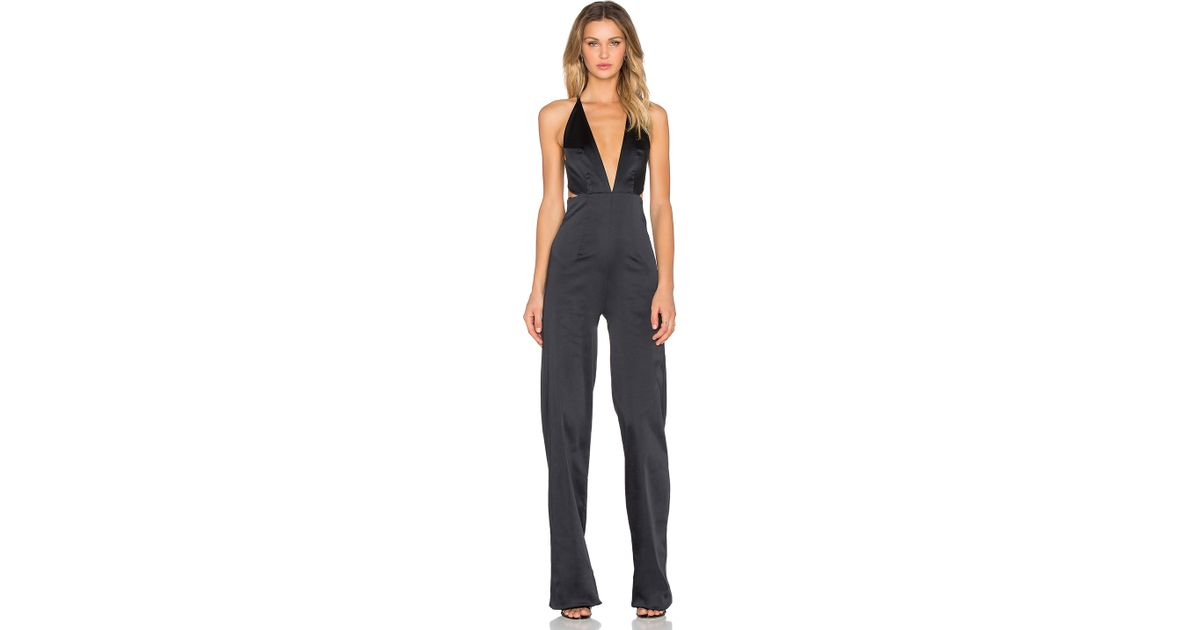 Lyst - Solace London Peggy Jumpsuit in Black