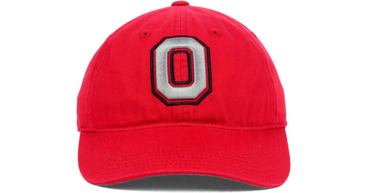 huge selection of 04268 5c14e ... wholesale lyst j america ohio state buckeyes playmaker easy fit cap in  red for men 2a4f7