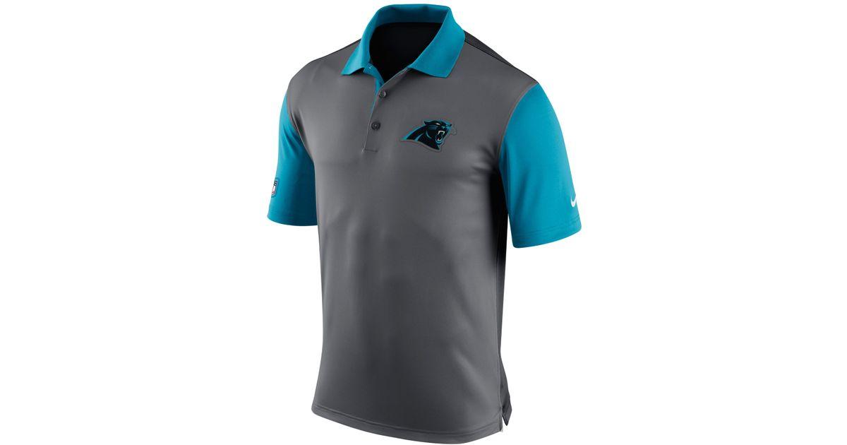 Nike Men's Carolina Panthers Preseason Polo in Gray for Men ...