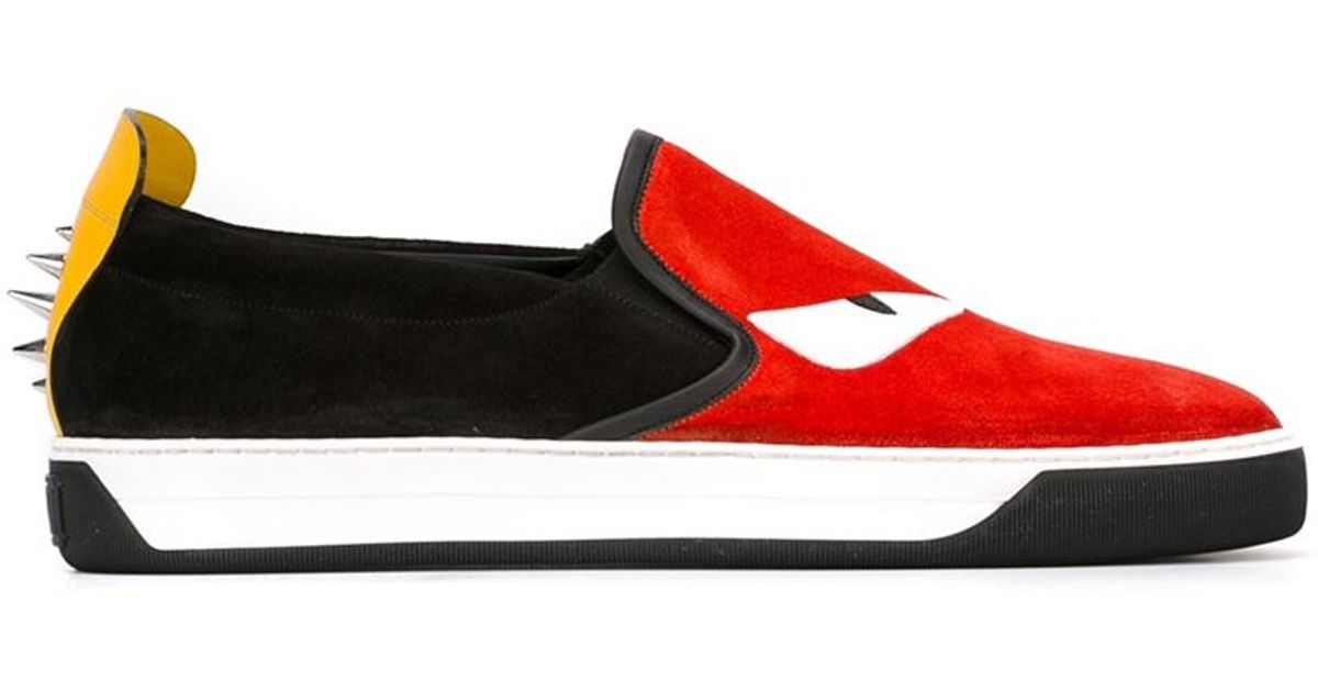 Blue and Red Bag Bugs Sneakers Fendi JsT2fluX6W