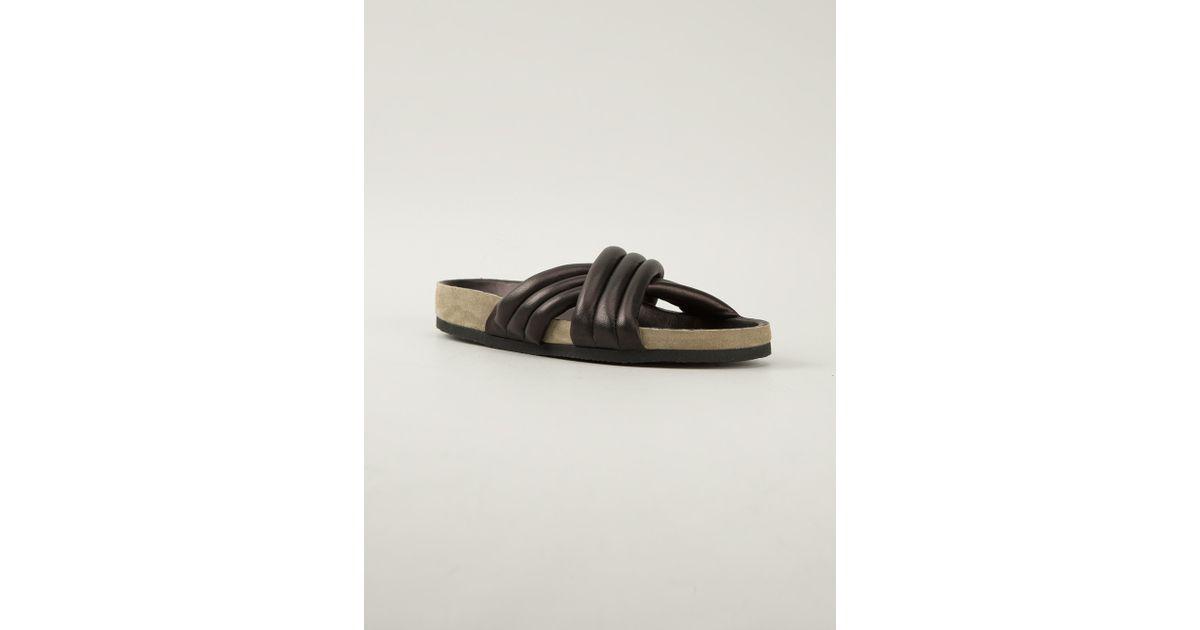 283da6f818eaaa Lyst - Isabel Marant Padded Flip Flop in Black