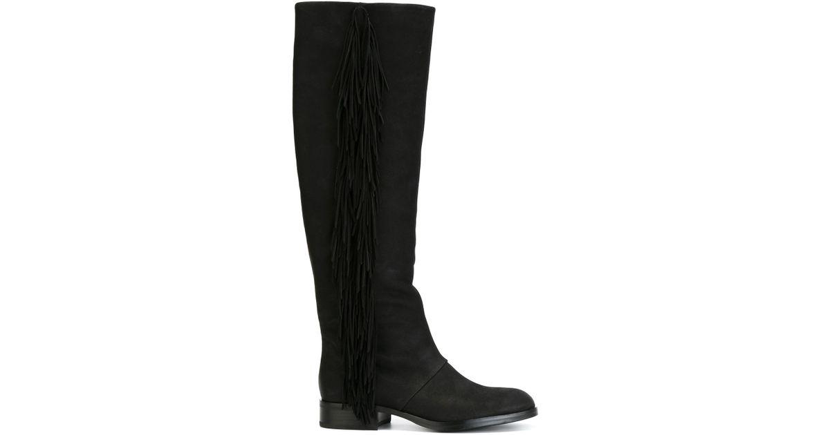 cefd512fa1340 Sam Edelman - Black Josephine Leather Knee-High Boots - Lyst