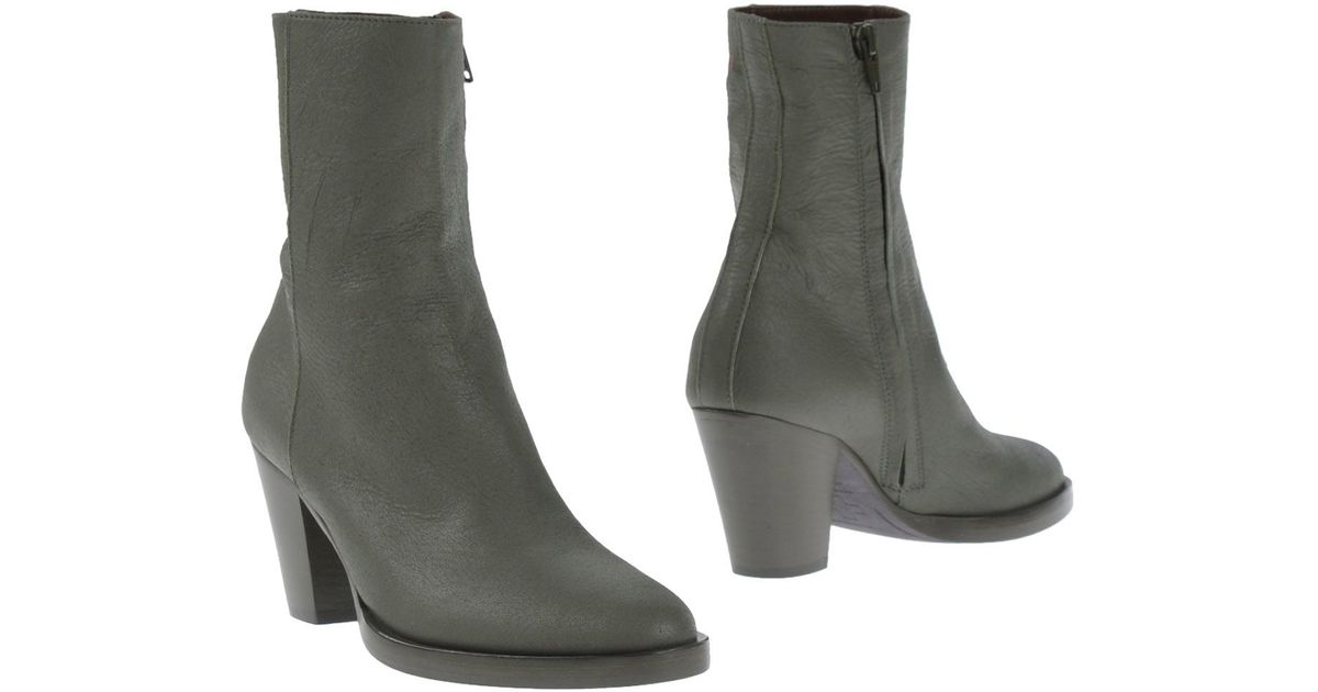 a f vandevorst ankle boots in green lyst