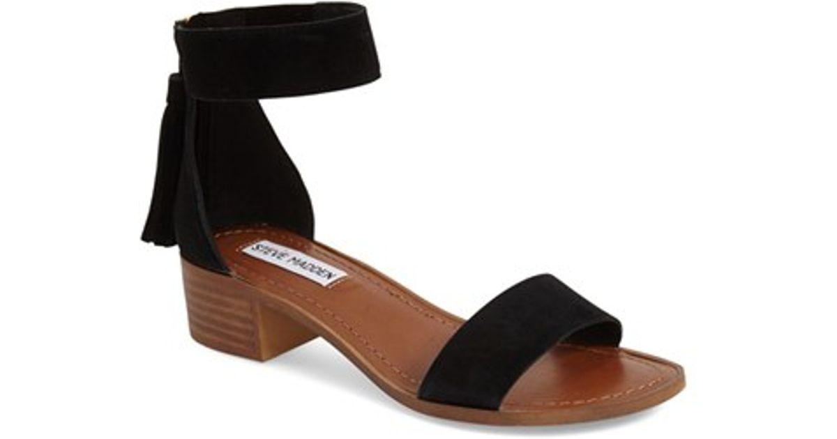 0192f59e0 Lyst - Steve Madden 'darcie' Ankle Strap Sandal in Black
