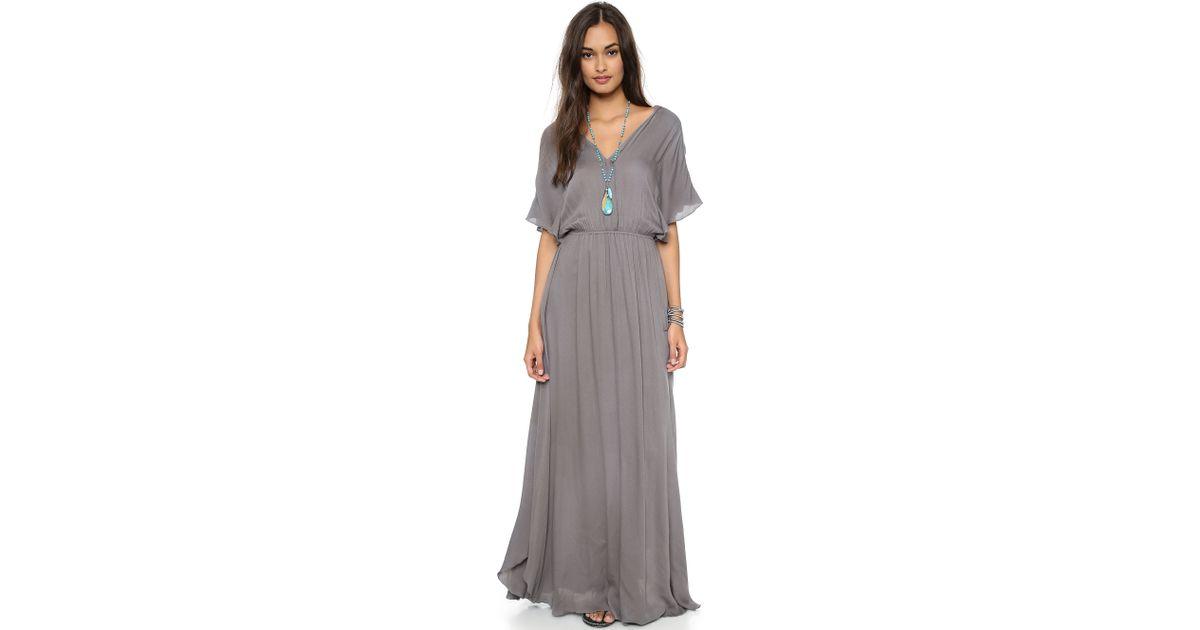 Lyst - Ella Moss Stella Maxi Dress in Gray