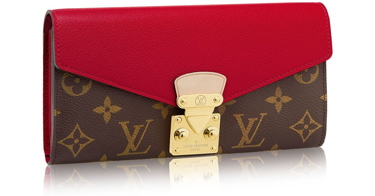 Louis Vuitton Pallas Wallet In Red Lyst