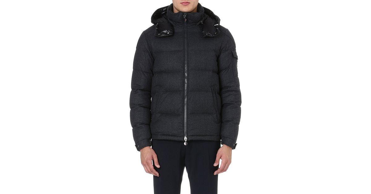 Moncler Montgenevre Felted Wool Quilted Jacket In Black