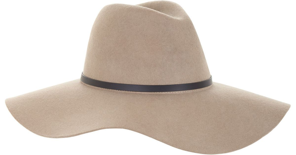 605bd19e240 Lyst - BCBGMAXAZRIA Banded Floppy Hat in Natural