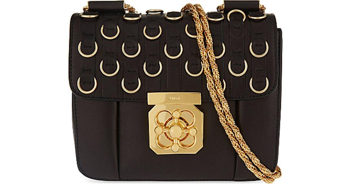 Chlo¨¦ Elsie Small Ring Detail Leather Over The Shoulder Handbag ...