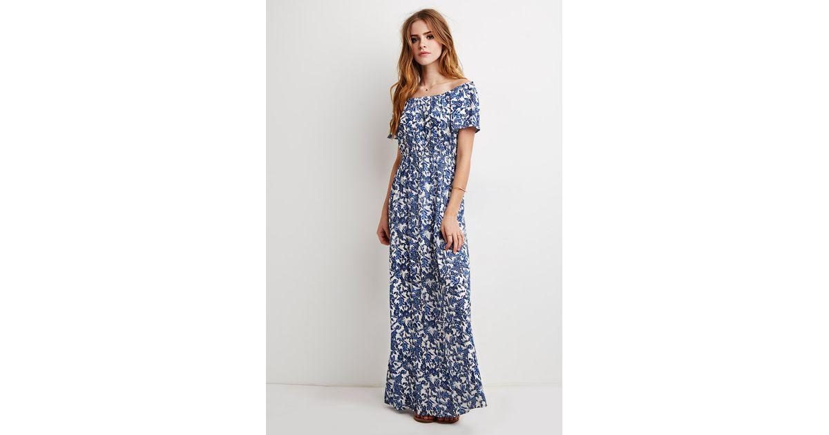 Paisley surplice maxi dress