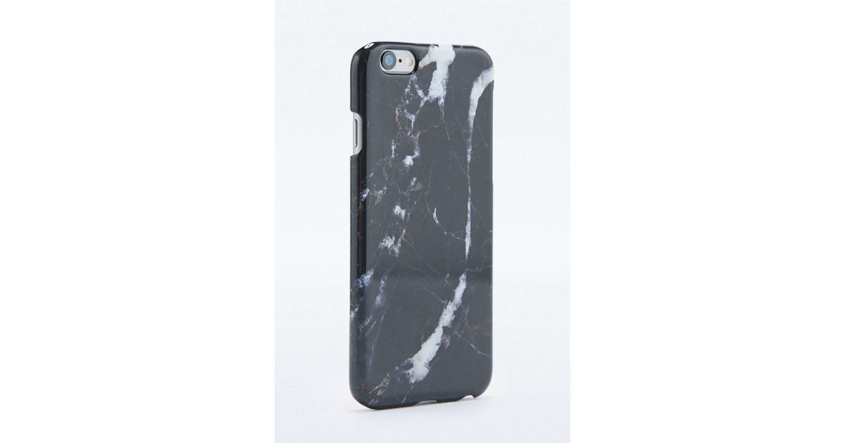 Urban Outfitters Marble Iphone 6 Case In Black Lyst