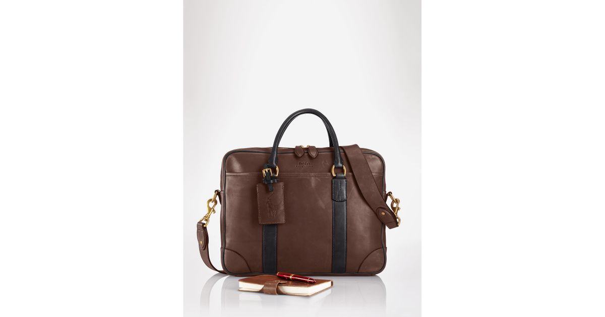 ... greece lyst polo ralph lauren leather commuter bag in brown for men  98dea fdb34 a26112fe640fd