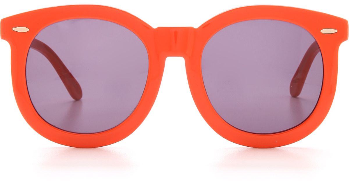 1a74bf3dba8f Karen Walker Super Worship Sunglasses in Orange - Lyst