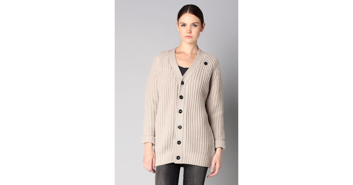 g star raw cardigan in gray lyst. Black Bedroom Furniture Sets. Home Design Ideas