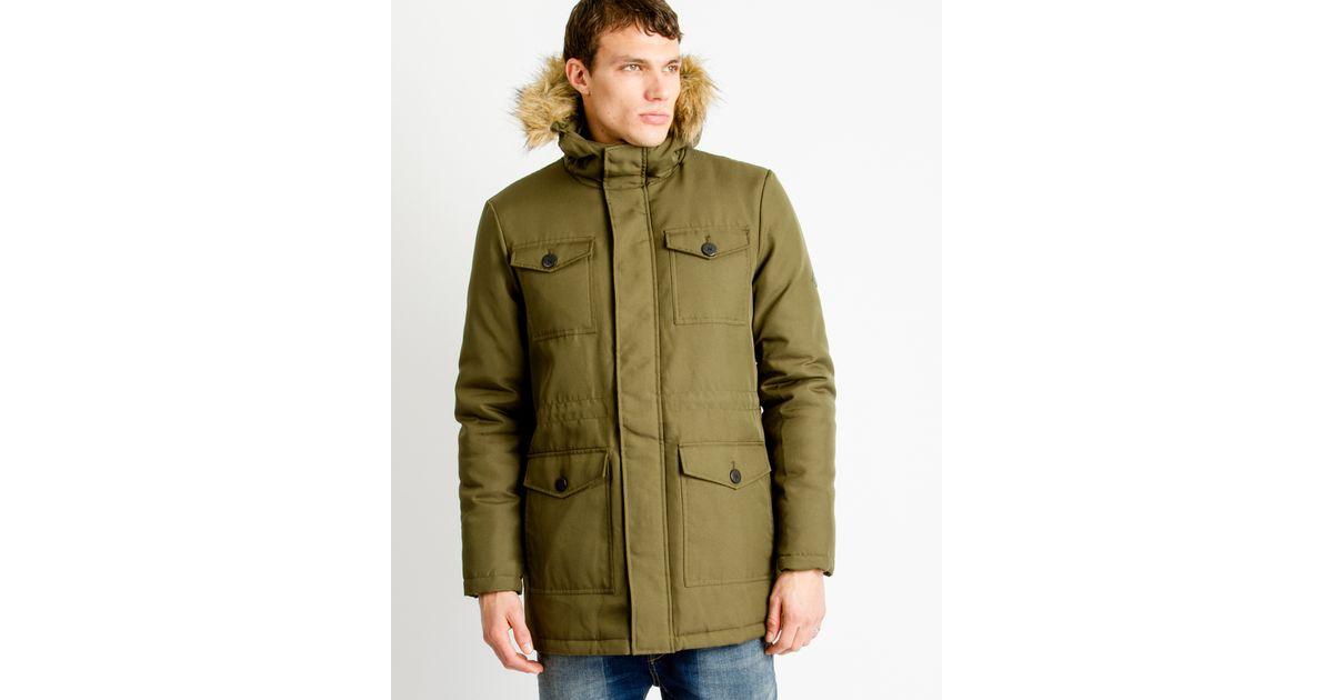3fc4d74428 Only & Sons Mens Parka Coat Khaki in Natural for Men - Lyst